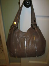 Michael Kors Tan/ Lt Brown Leather Med Size Shoulder Bag with Many Zippers