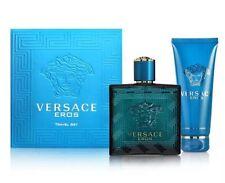 Versace Eros For Men Travel Set 100ml/3.4oz EDT+100ml/3.4oz Shower Gel Sealed