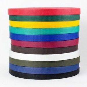 25mm Polypropylene Webbing Bag Strap Dog Leads Collars Nylon Heavy Duty Belts