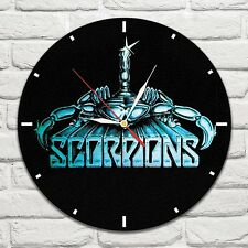 Reloj De Pared Scorpion Banda De Color Vinyl Record De Diseño Hogar Tienda Oficina Coleccionista