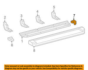TOYOTA OEM 01-07 Sequoia Running Board Step-Step Pad Grip Cover 517180C010