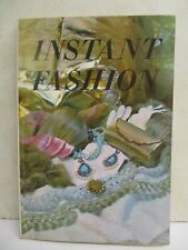 Vintage 1969 INSTANT FASHION book with fashion drawings 128 pages