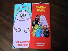 Barbapapa birthday calendar