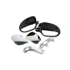 Metallic Black Wing Mirror Cover & Mirror Kit For VW Golf V Jetta III Passat EOS