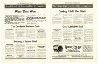 1912 2 PAGE ORIGINAL VINTAGE GOOD YEAR TIRES MAGAZINE AD