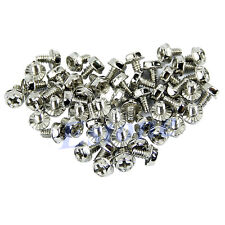100pcs Motherboard Mounting Toothed Hex Computer 6/32 Hard Drive Case Screws