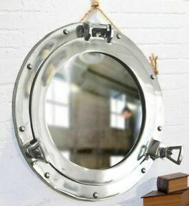 "15""Porthole Mirror ~ Chrome Finish ~ Nautical Maritime Decor ~Ship Cabin Window"