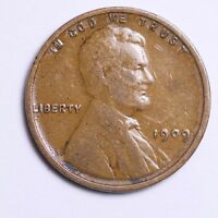 1909 Lincoln Wheat Cent Penny LOWEST PRICES - CHOICE COIN!  FREE SHIPPING