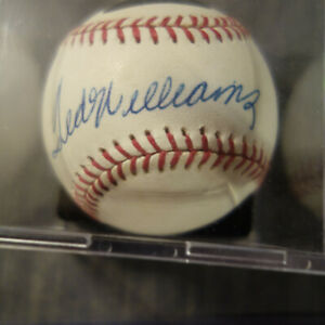 SIGNED TED WILLIAMS BASEBALL GRADED 8 PSA DNA AUTHENTICITY LETTER (drbh)