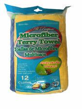 Cavalier Mills All Purpose Microfiber Towels Multicolored Heavy 16 L X 16 W 12ct