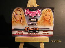2015 Bench Warmer Hollywood Show Double Feature Promo #16 Hinton / Ziering