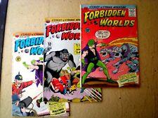 Lot 3 Forbidden Worlds 130 132 133 (1965) Magicman ACG C08
