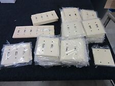 148 MULBERRY WALL PLATE SWITCH TOGGLE COVER IVORY 6 4 3 2 WAY METAL NEW