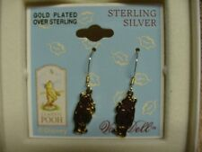 Classic Winnie The Pooh Gold Over Sterling Silver Earrings By Van Dell