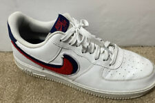 "Men Nike Air Force 1 ""Chenille"" Swoosh Sz 11.5, White, Red, Blue"