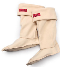 NIB Chooka Waterproof RainBoot Sock Fleece Liner TAN KHAKI CREAM S/M 5 6 7