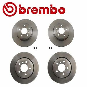 Front and Rear Vented Carbon Coated Disc Brake Rotors Kit Brembo for BMW E83 X3