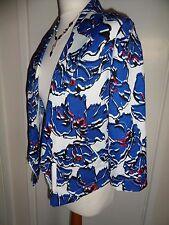 Floral Light Summer Blazer Jacket Size UK 8