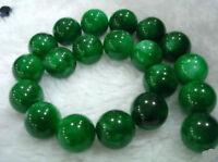 "8MM Natural Dark Green Emerald Round Loose Gemstones Bead 15"""