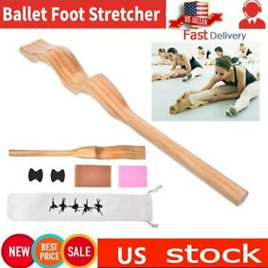 USA! Wooden Ballet Foot Stretch Stretcher Arch Enhancer Elastic Band Dance Gifts