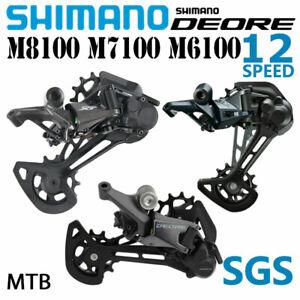 SHIMANO DEORE XT RD M8100 SLX RD M7100 M6100 SGS 12V MTB Deragliatori posteriori