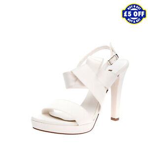 RRP €135 ALBANO Satin Mary Jane Sandals Size 40 UK 7 US 10 Bow Made in Italy
