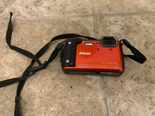 Nikon Coolpix W300 16.05MP Digital Camera WiFi Orange Free Shipping Tested Works