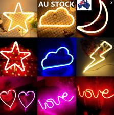Neon Cloud Moon Star LED Wall Light Home Decor Sign Night Bar Lamp Lighting USB