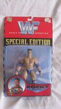 Raro Wwf Edición Especial Serie 1 Rocky Maivia Figura de Acción Jakks 1997 Nuevo