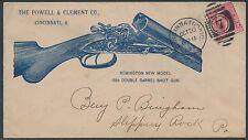 "REMINGTON GUN BLUE DESIGN ON 1889 COVER ""DOUBLE BARREL SHOTGUN"" XF BS4670"