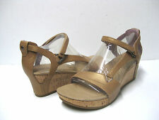 Teva Capri Wedge Pearlized Tan Sandals Women US 9.5 /UK7/EU40