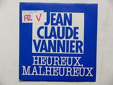 JEAN CLAUDE VANNIER Heureux malheureux promo PRO 294
