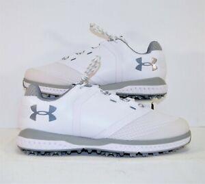 Under Armour UA Fade RST White & Grey Women Golf Shoes Sz 9 NEW 3000221 102