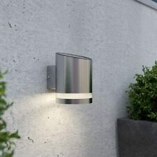 Truro Solar Powered Outdoor Wall Light Silver