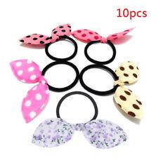 10Pcs/lot Girls Hair Band Mix Styles Polka Dot Bow Rabbit Ears Elastic Hair Rope
