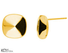 Stud earring for Swarovski 4470 12 mm KH 46 - gold-plated silver (1 pair)