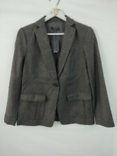 New Ann Taylor Suit Jacket Women's Size 6 P Black Brown Tweed Blazer Lined