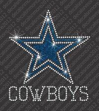 NFL:  Dallas Cowboys - Bling - Iron-on Rhinestone Transfer Decal