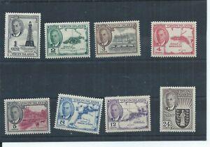 British Virgin Islands stamps. 1952 GVI series MH to 24c SG 136 - 143 (P793)
