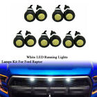 10x 6000k 12v White Led Running Marker Lights For Ford Raptor Front Grille Lamp