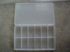 12 Grids Plastic Box Case Jewelry Bead Storage Container Craft Organizer