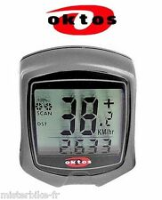 Compteur vélo OKTOS km/h chronomètre montre comparateur bike meter counter 9F