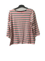 Joules Womens Stripy Cotton 3/4 Sleeve Blouse 18(D7)