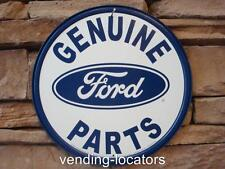 Genuine Ford Parts ROUND TIN SIGN metal wall decor garage car truck logo New