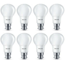 8x Philips LED Frosted B22 60w Warm White Bayonet Cap Light Bulbs Lamp 806 Lm