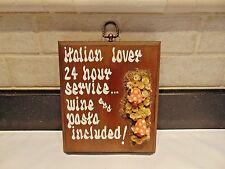 Italian Lover Plaque