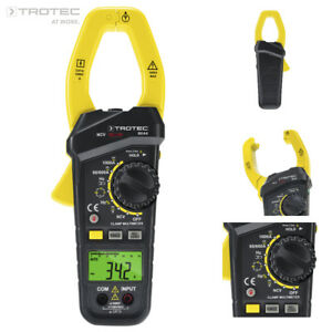 TROTEC Stromzange BE44   Zangenamperemeter   Digital Zangen Multimeter   AC DC