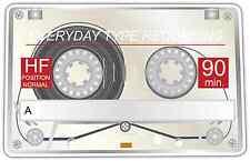 "Audio Cassette Tape White Car Bumper Window Locker Sticker Decal 5""X4"""