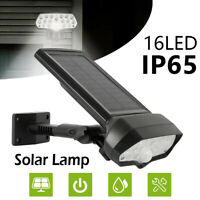 Solar Wall Lights PIR Outdoor LED Wireless Outside Garden lighting Waterproof HM