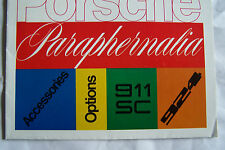 1977 porsche 911 924 owners sales brochure accessories options paraphernalia